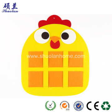 Yellow chicken design felt hanging bag
